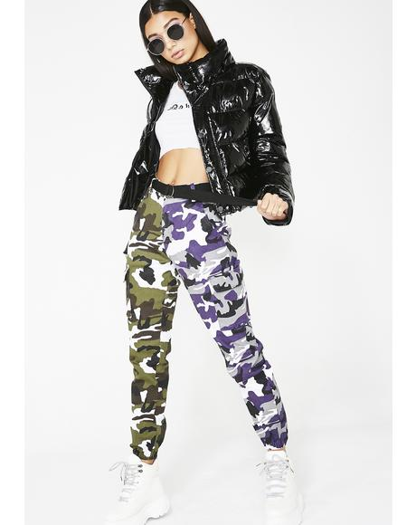 Purp March To Me Camo Joggers