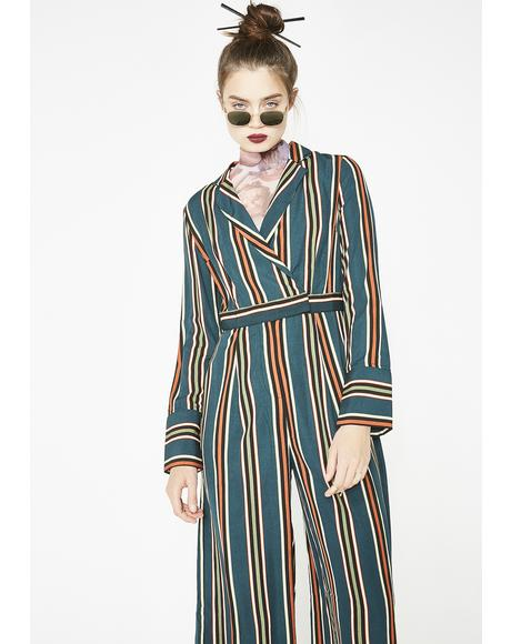 Born Ready Stripe Jumpsuit