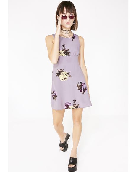 Vintage 90s Floral Mini Dress