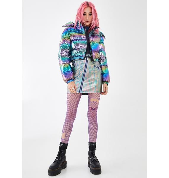 Current Mood Electric Aura Puffer Jacket