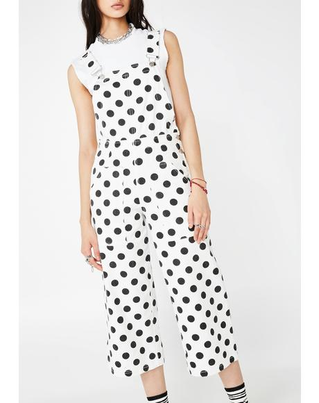 House Of Odd Polka Dot Overalls