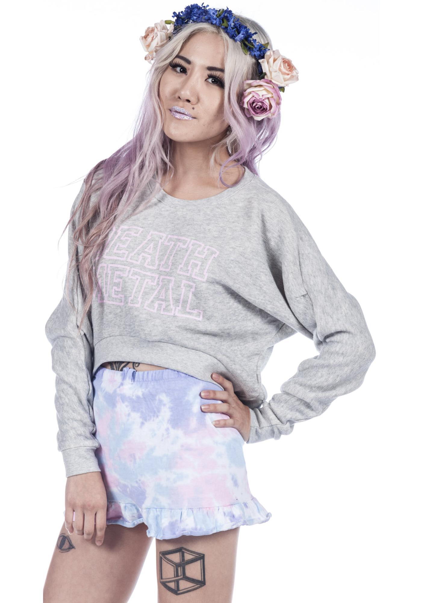 Joyrich Death Metal Cropped Crew Sweatshirt