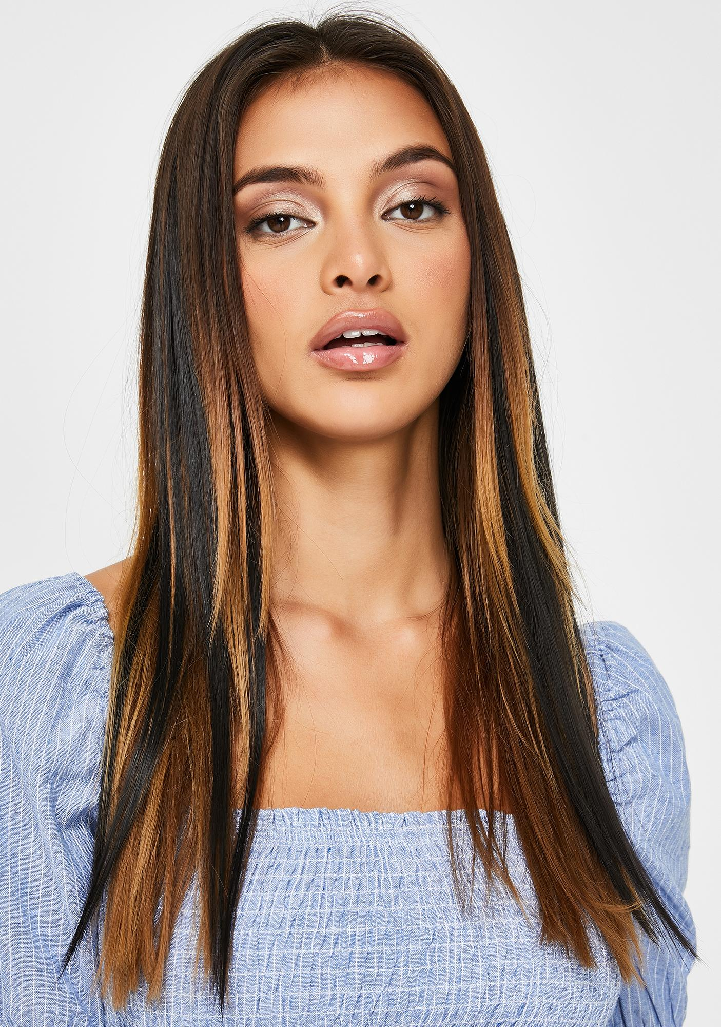 Black Clip In Hair Extensions by Shrine