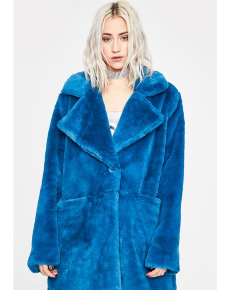 Lapis Luxurious Lover Faux Fur Coat