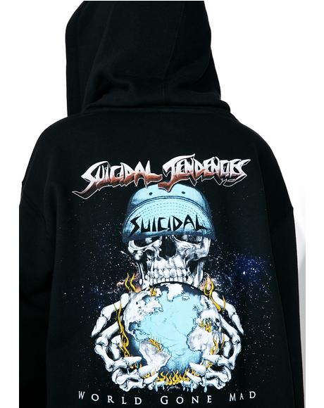 World Gone Mad Zip-Up Hoodie