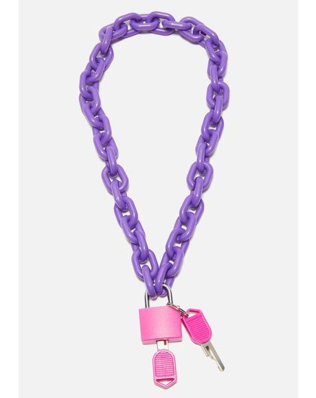 Haze Cyber Children Lock Necklace
