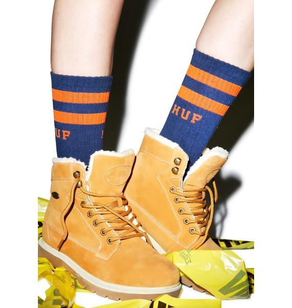 HUF 2 Stripe Crew Socks
