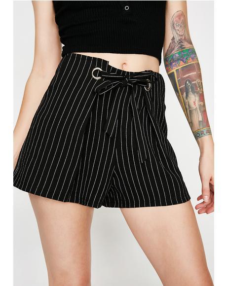 Let'z Mob Striped Shorts