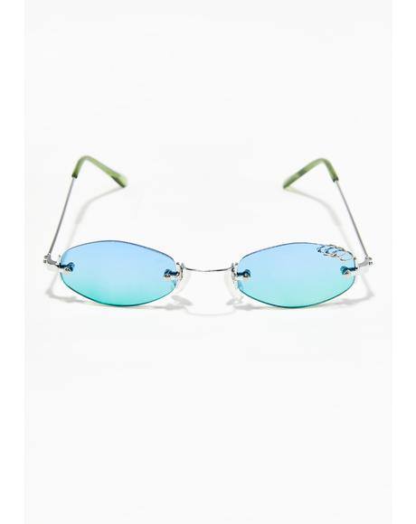 Sky Clout Queen Pierced Sunglasses