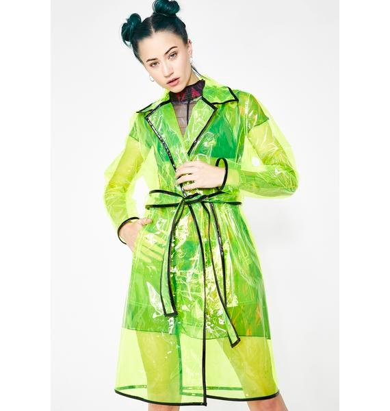 enjoy complimentary shipping selected material exclusive deals Matrixx Slime Clear Raincoat
