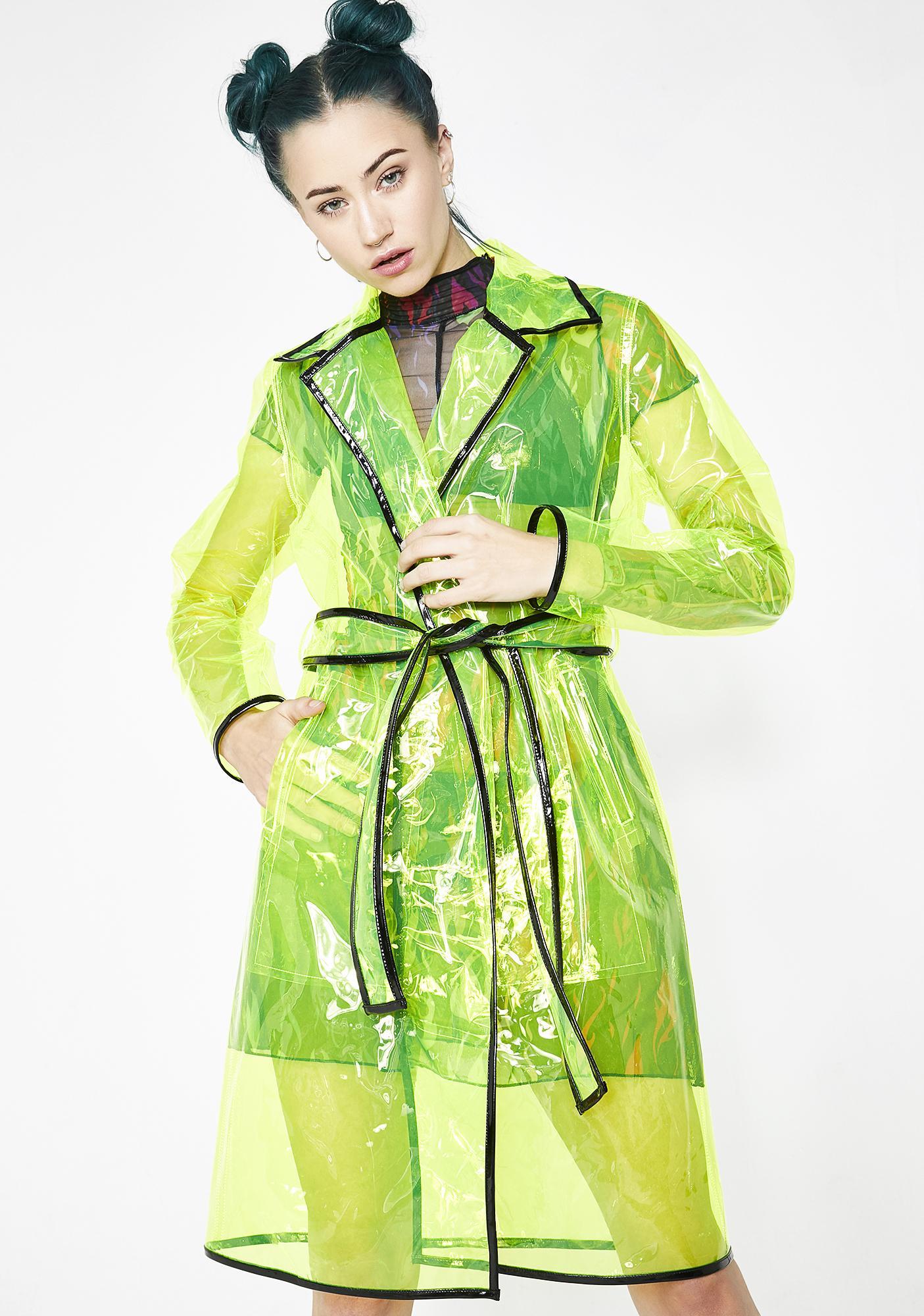Current Mood Matrixx Slime Clear Raincoat