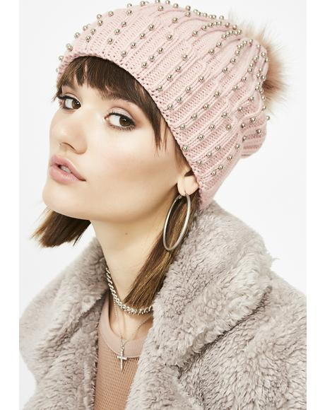 Blush Wishful Thinking Studded Beanie
