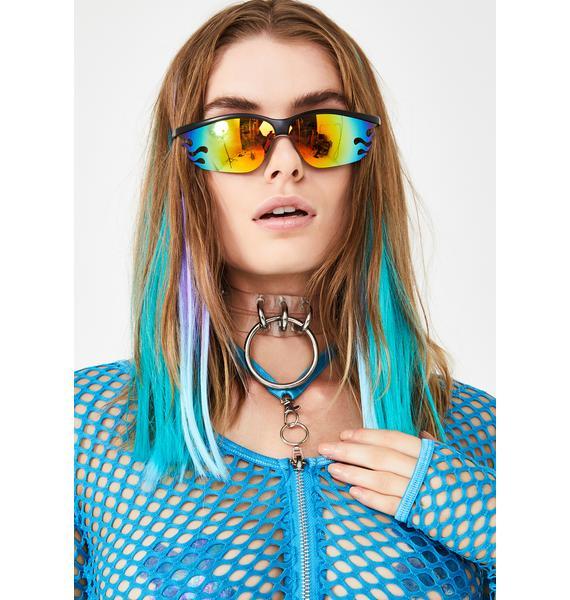 Planet i Fire OG Rainbow Sunglasses