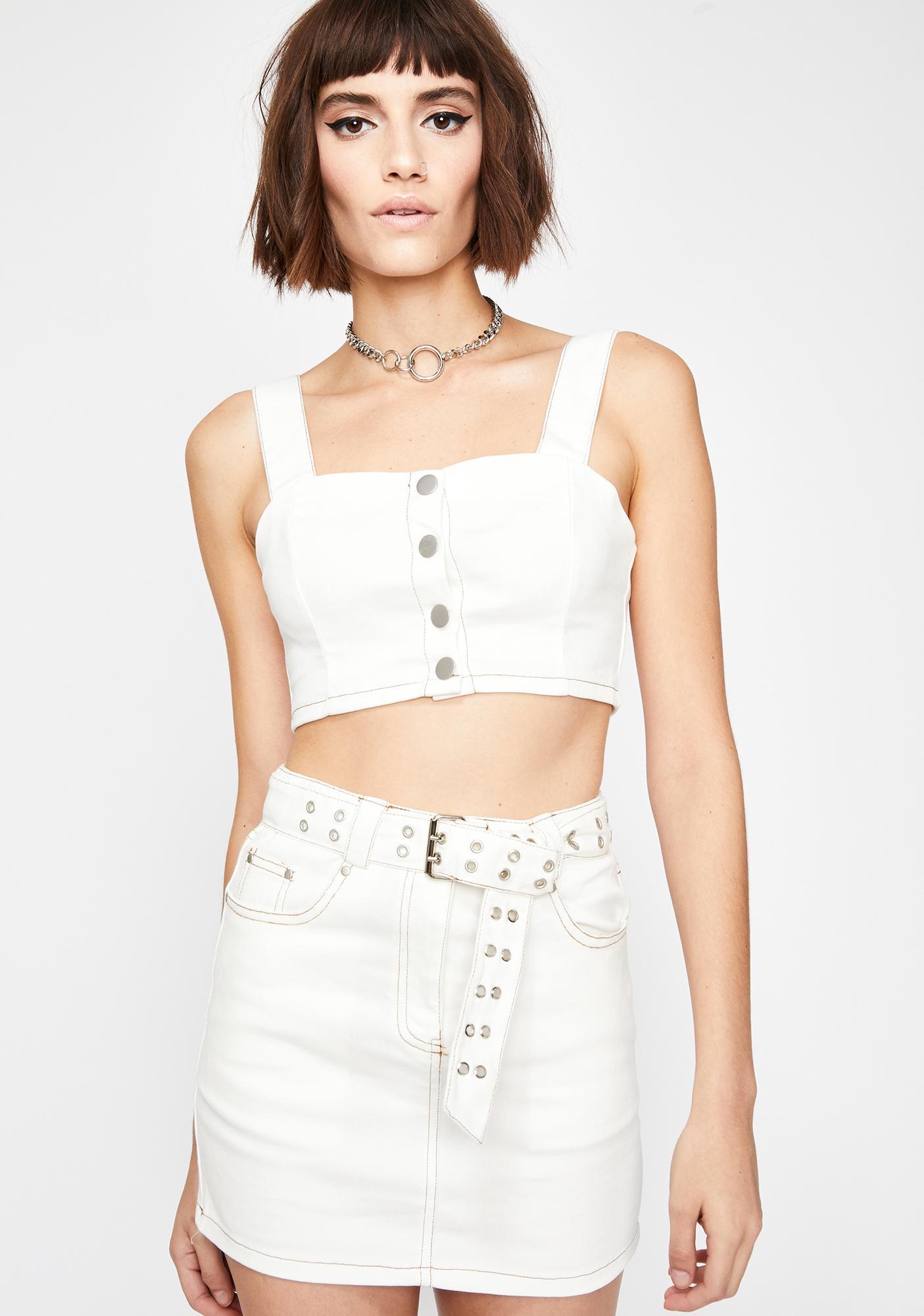 Innocent Get Live Belted Mini Skirt