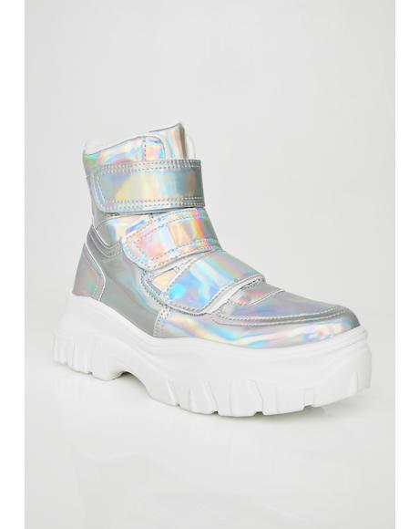 Bae Holo Velcro Sneakers
