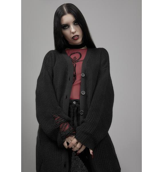 Widow Holy Terror Distressed Cardigan