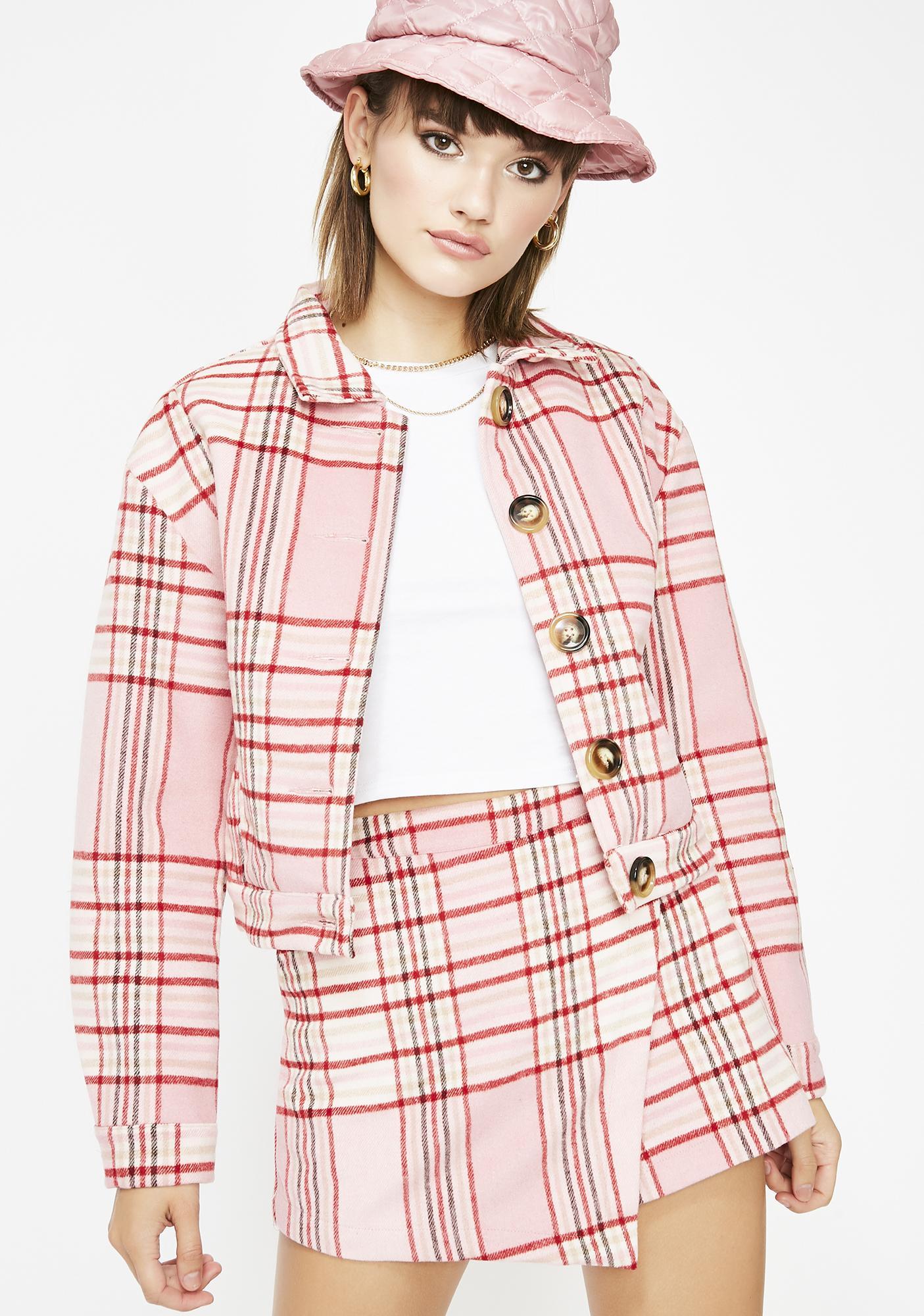 Miss Rumor Has It Plaid Jacket