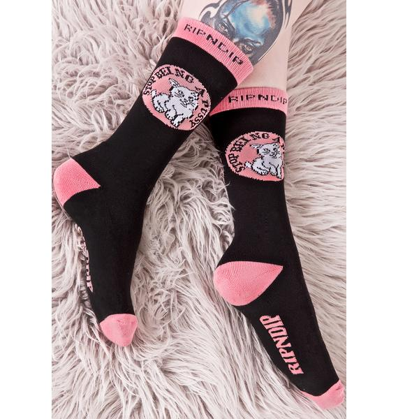 RIPNDIP Stop Being A Pussy Socks