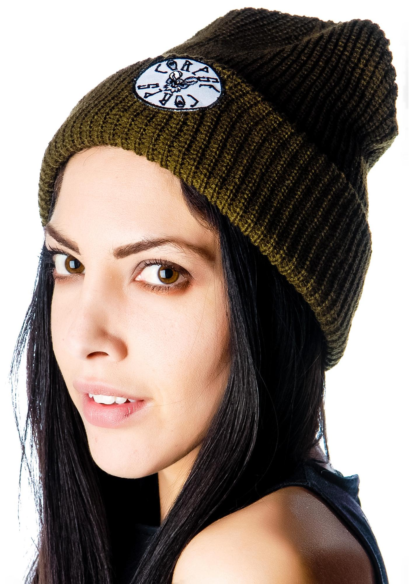 Corpse Corps Boards Bat Patch Beanie