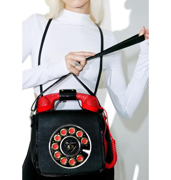 Betsey Johnson Ruby Hotline Crossbody Bag