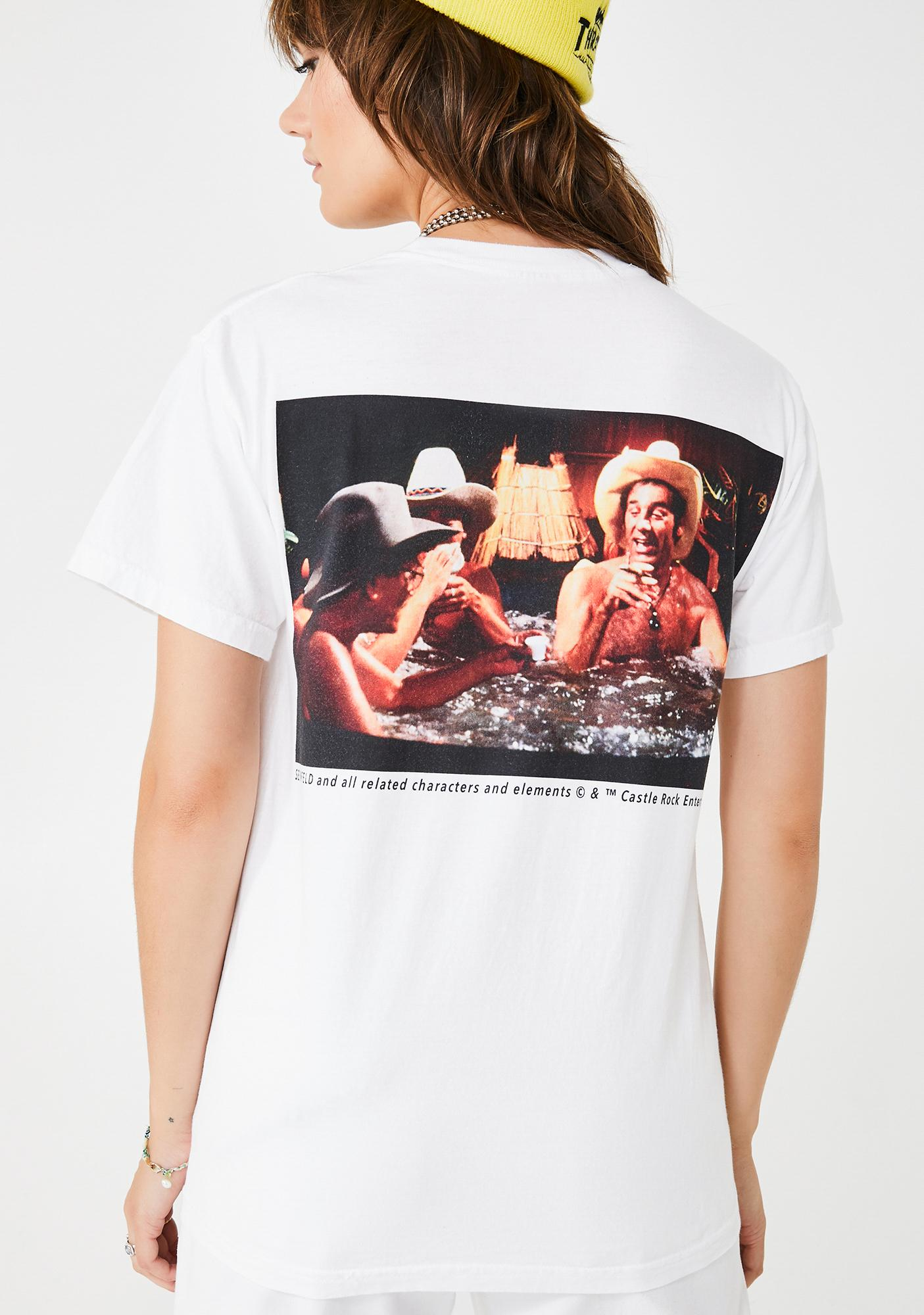 Dumbgood Seinfeld Hot Tub Cowboys Graphic Tee