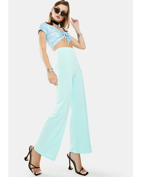 Mint Way Flare Pants