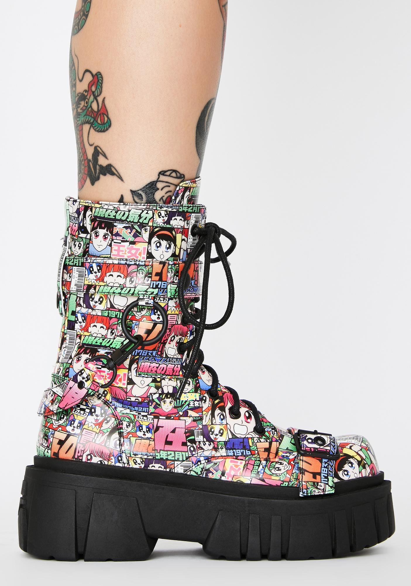 Current Mood Reckless Adventure Combat Boots