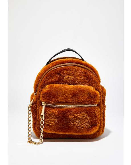 Cute N Cuddly Fuzzy Backpack