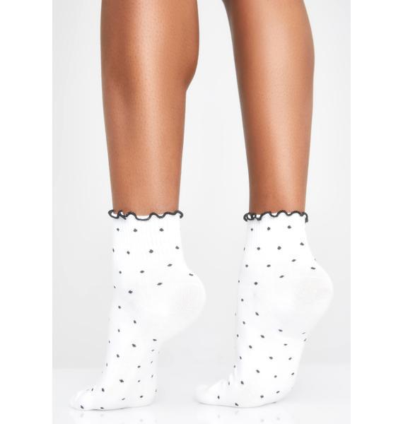Basically Innocent Polka Dot Socks