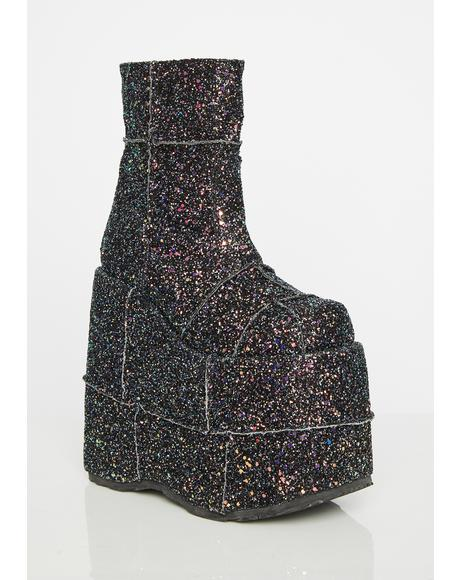 Galaxy Stack Soul Stomper Platform Boots