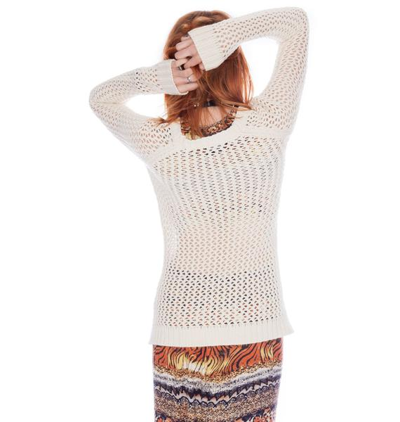 by Ronny Kobo Helen Mesh Knit Sweater