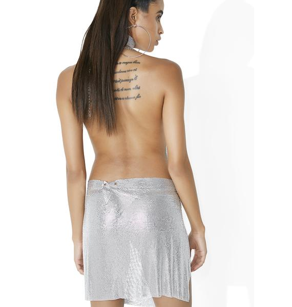 Kiki Riki Love 2 Love You Chainmail Mini Skirt