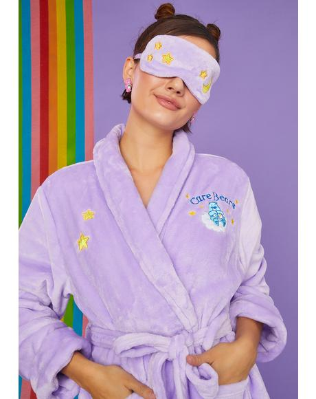 Cuddle Puddle Bedtime Robe And Eye Mask Set