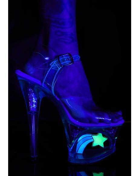UV Shooting Star Platforms Heels