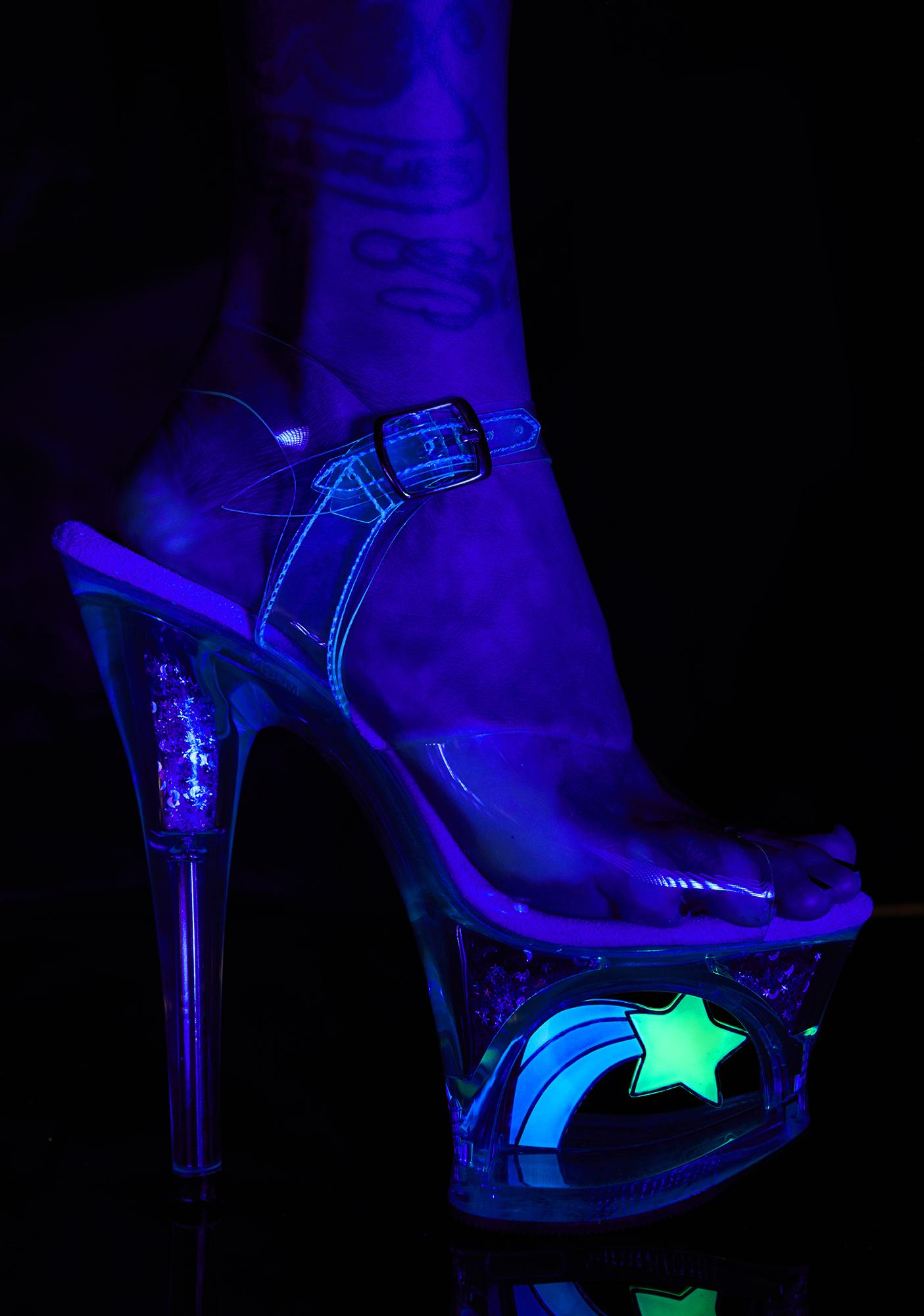 Pleaser UV Shooting Star Platforms Heels