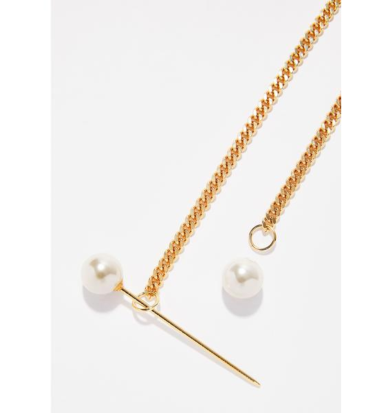 Classy Girl Barbell Necklace