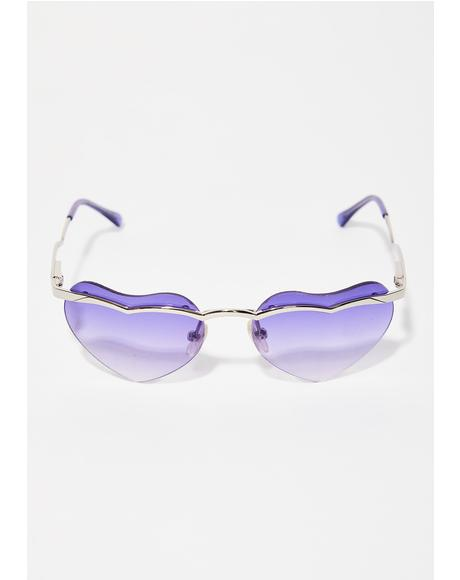 At First Sight Heart Sunglasses