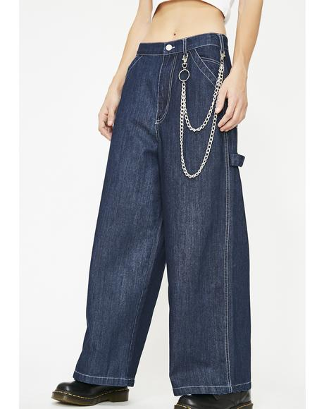 Sapphire Later Sk8r Wide Leg Jeans