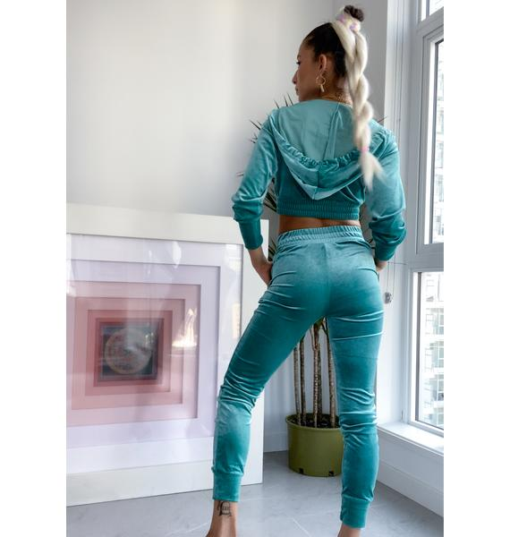 Obsessed With Me Velour Tracksuit