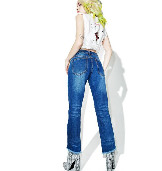 Split Vision Distressed Jeans