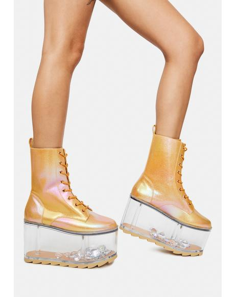 Goldust Qloud Ultra Platform Boots