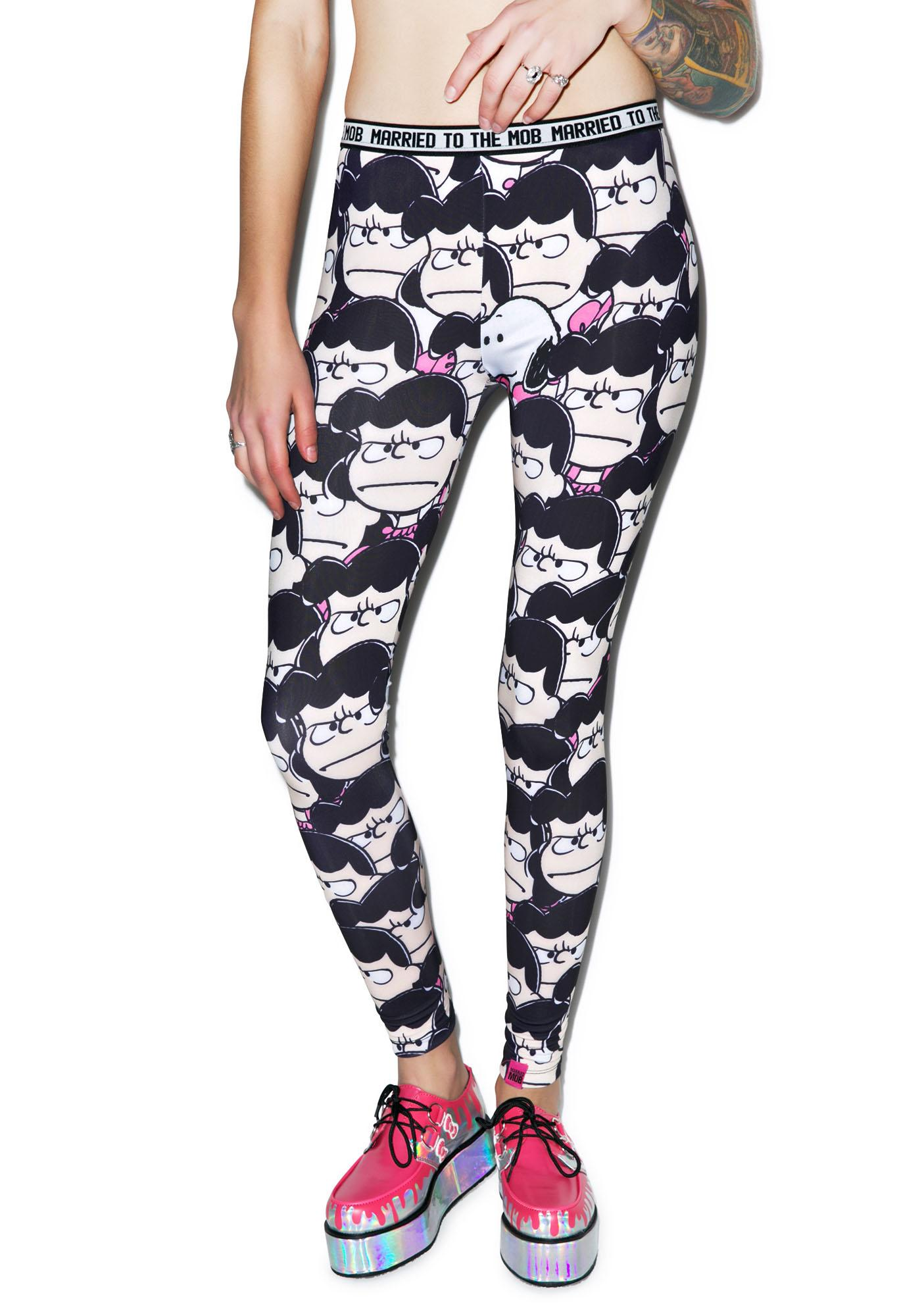 Married to the Mob Lucy Printed Stretch Leggings