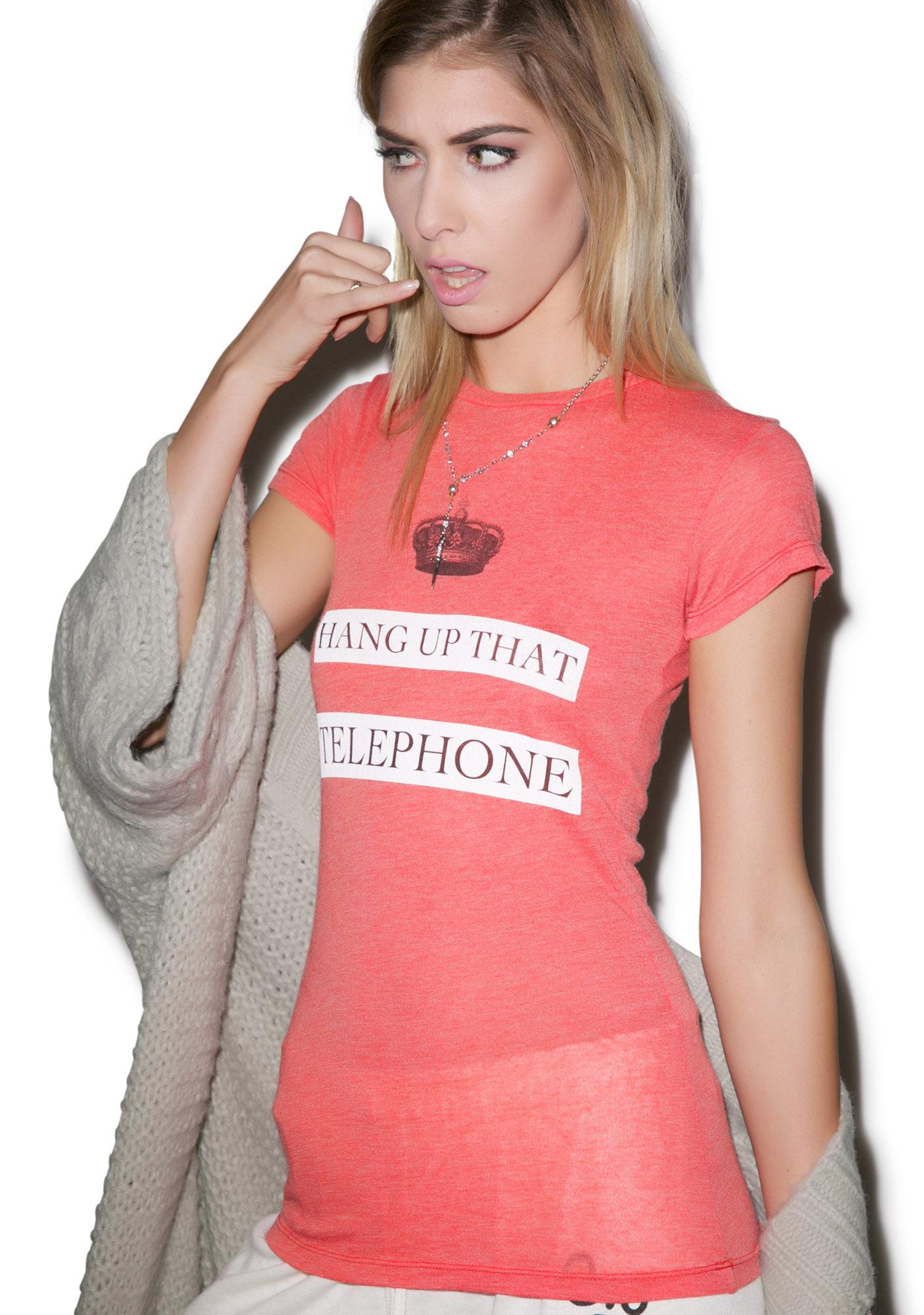 Wildfox Couture Phone Booth Skinny Crew