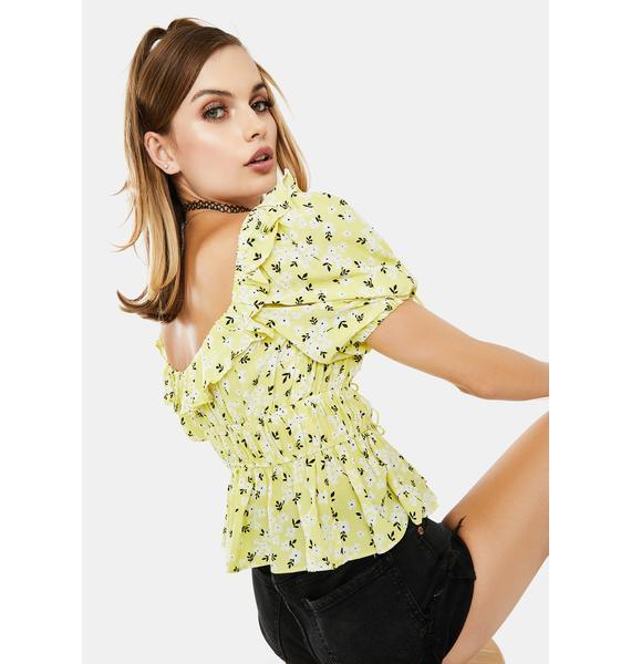 For Love & Lemons Chrysanthemum Crop Top