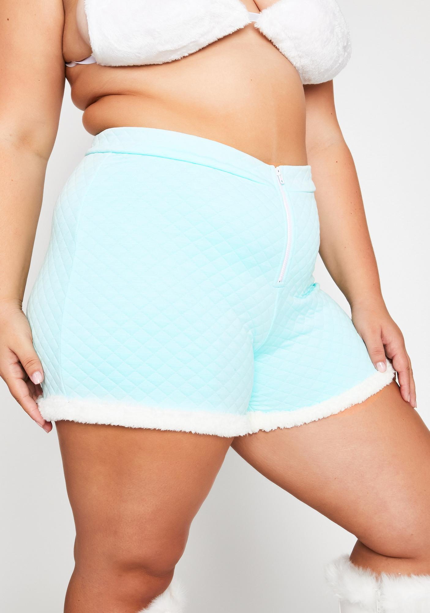 Powder Legit Soft Gurl Hours Fur Trim Shorts
