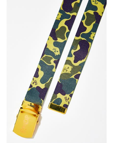 Plum Nerm Camo Web Belt
