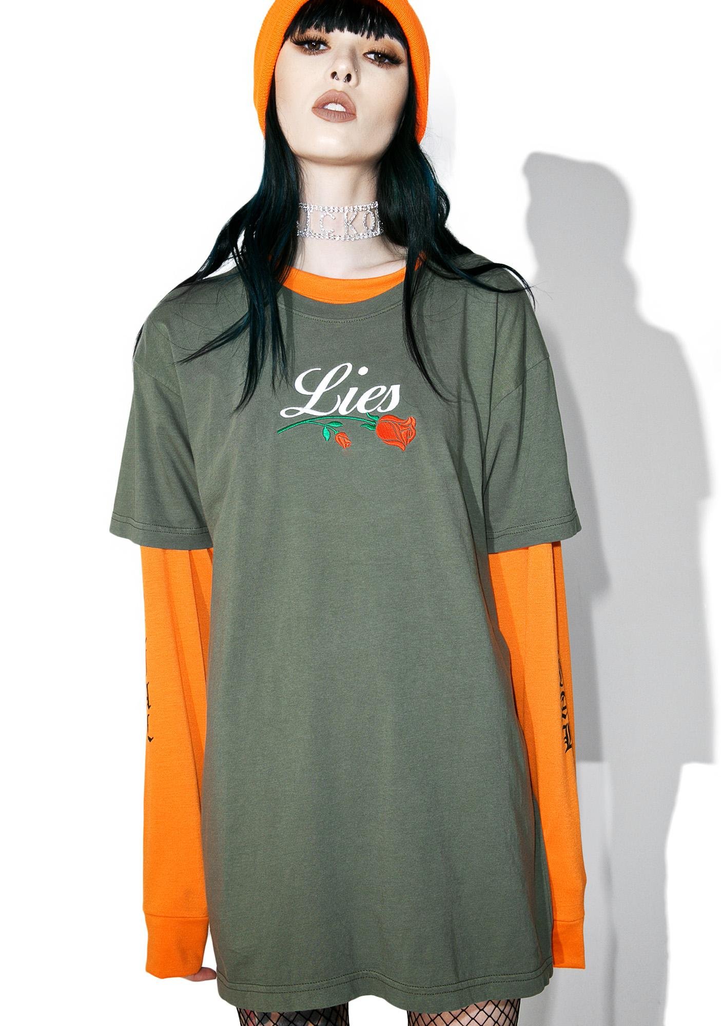 Petals and Peacocks Lies Tee