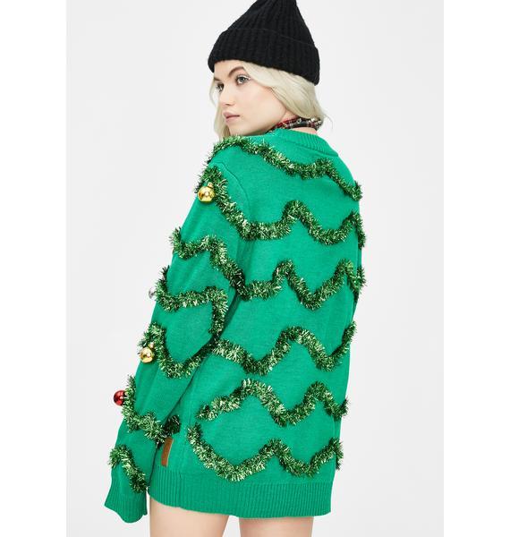 Tipsy Elves Gaudy Garland Tinsel Sweater