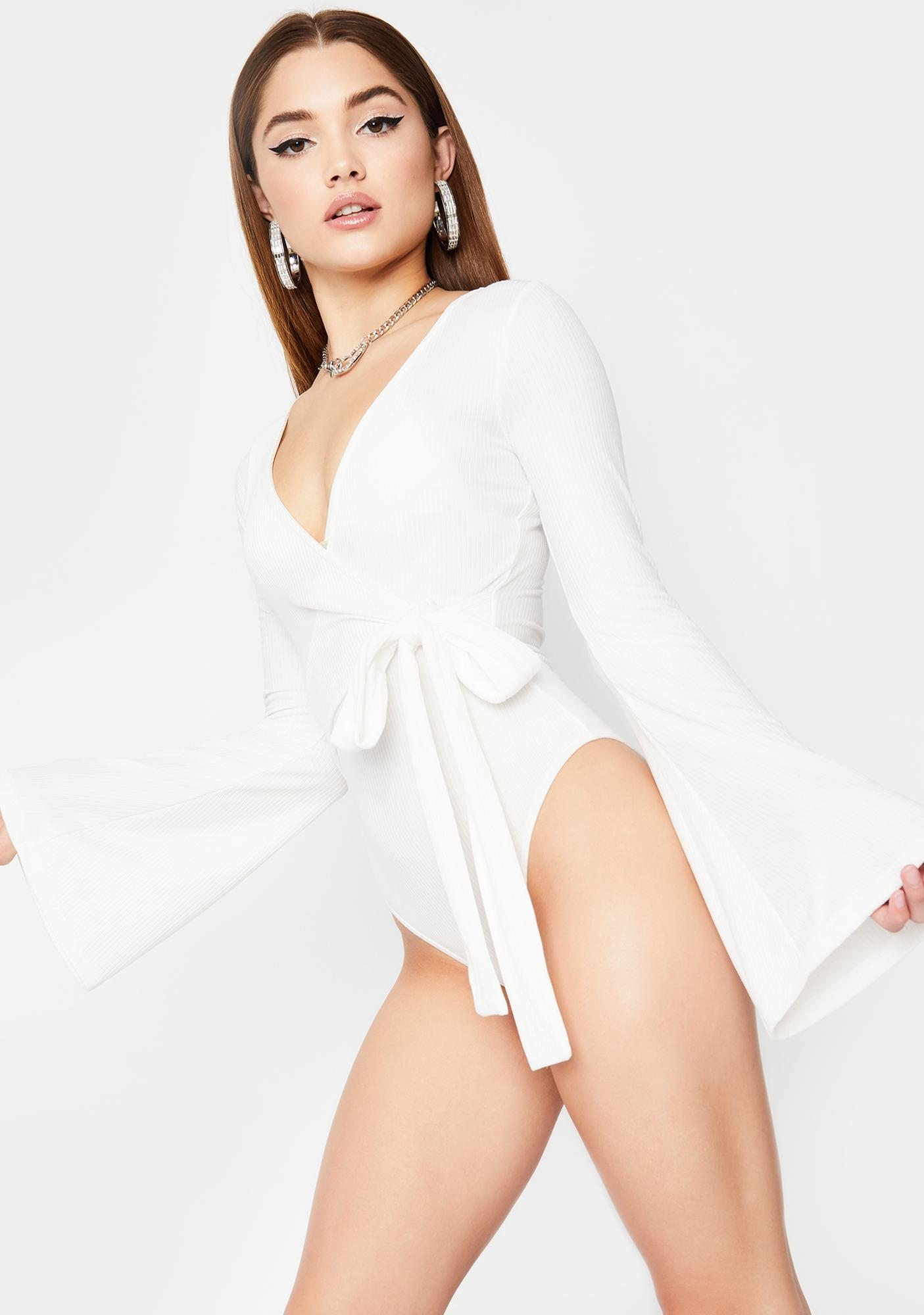 Boo Make It Good Wrap Bodysuit