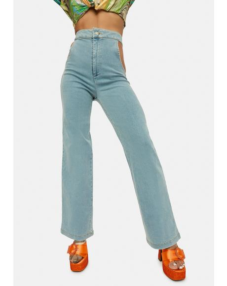 No Sneak Peeks Cutout Denim Jeans